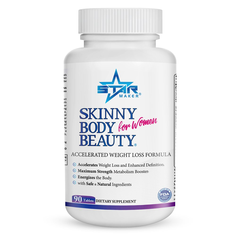 SKINNY BODY BEAUTY Keto Weight Loss Diet Pills for Women - Accelerated Weight Loss Formula, Energy Booster w Garcinia Cambogia, Helps Curb Food Cravings, Sheds Body Fat & Excess Water Weight, 90 Count by STARMAKER