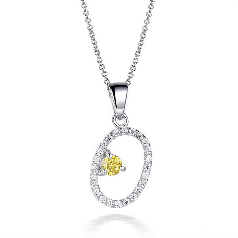 CS-DB Pendants 0.93ct Gemstones Q Silver Necklaces