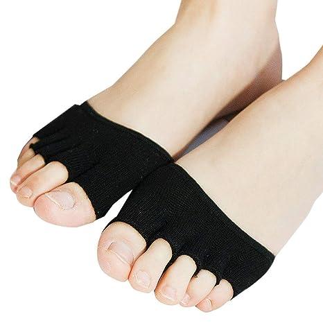 f9c53719e 1 par de mujeres niñas medias invisibles medio footie calcetines ...
