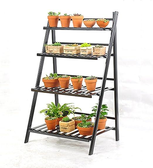YANZHEN Pastillas de flor de hierro Pasamano de madera con balda de flores Pasamanos con armazón de múltiples capas Escalera de flores Flores Escaleras (Tamaño : 50*120CM) : Amazon.es: Jardín