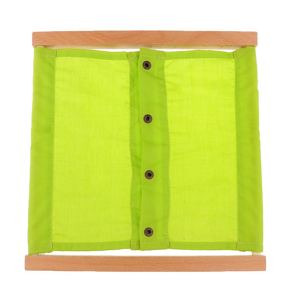 f/ür Kinder Vorschule Spielzeug #2 Kleidung Box MagiDeal Montessori Material 3 Typen von Rei/ßverschluss//Knopf