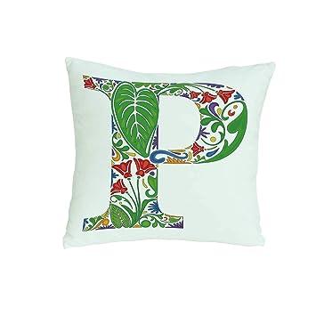Amazon.com: YOLIYANA Letter P Comfortable Pillow,Abstract ...
