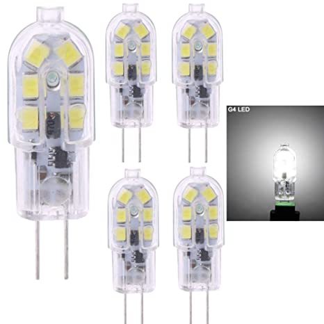 4 bombillas LED G4, 2 W (equivalente a bombilla halógena de 20 W)