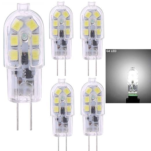 4 bombillas LED G4, 2 W (equivalente a bombilla halógena de 20 W), ...