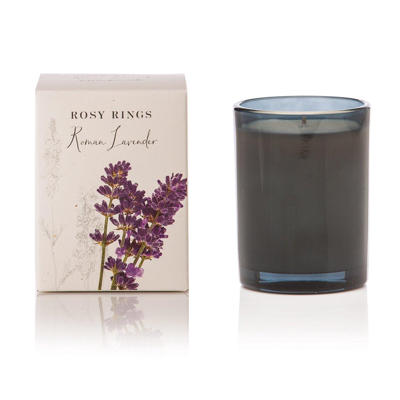 Rosy Rings Botanica Glass Candle Roman Lavender gla-RL