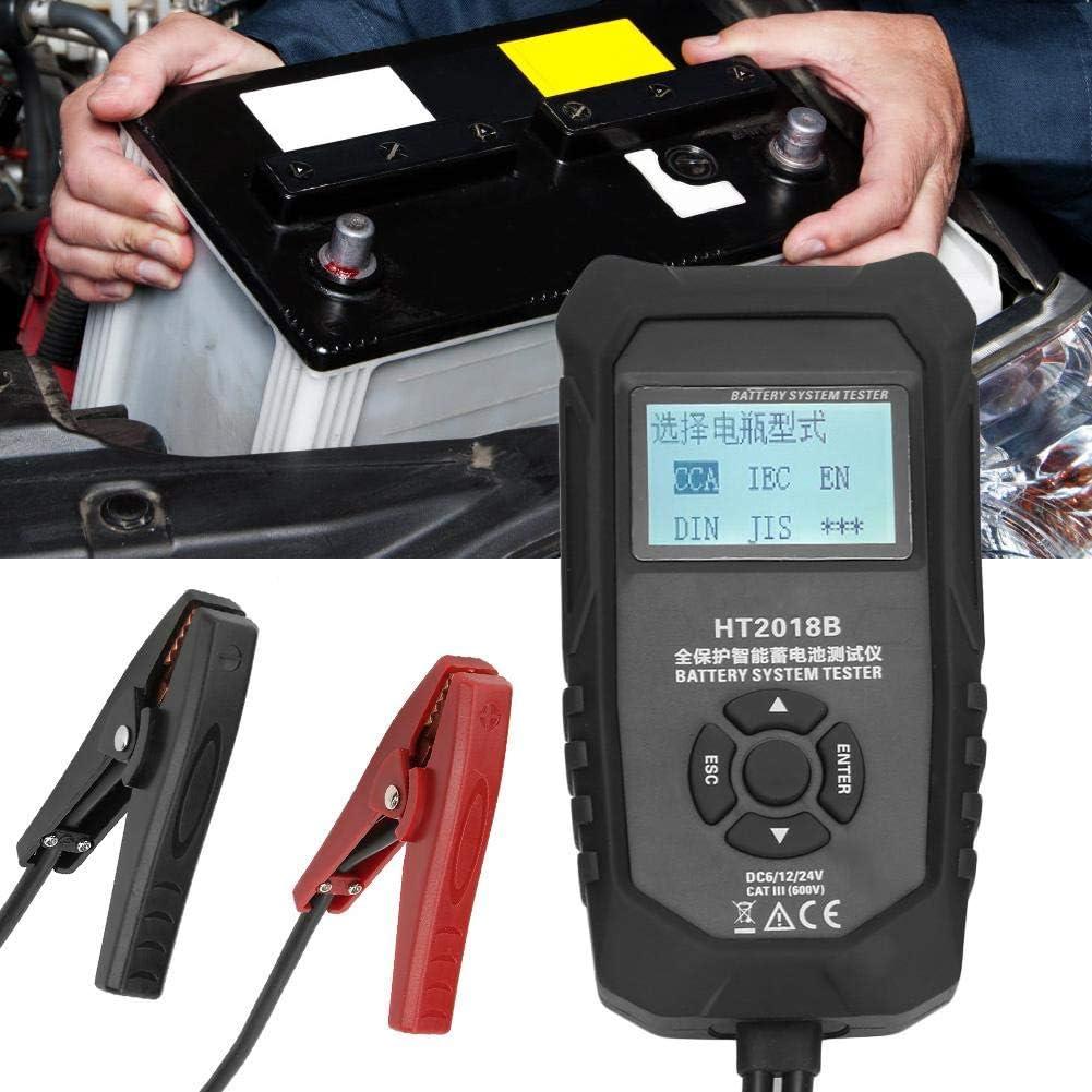 Jadpes Digitaler Batterietester und Ladesystem Test-Scan-Tool Digitaler Batterielebensdauer-Widerstandsanalysator mit LCD-Anzeige f/ür schwere Lastkraftwagen 6V//12V//24V Autokurbel