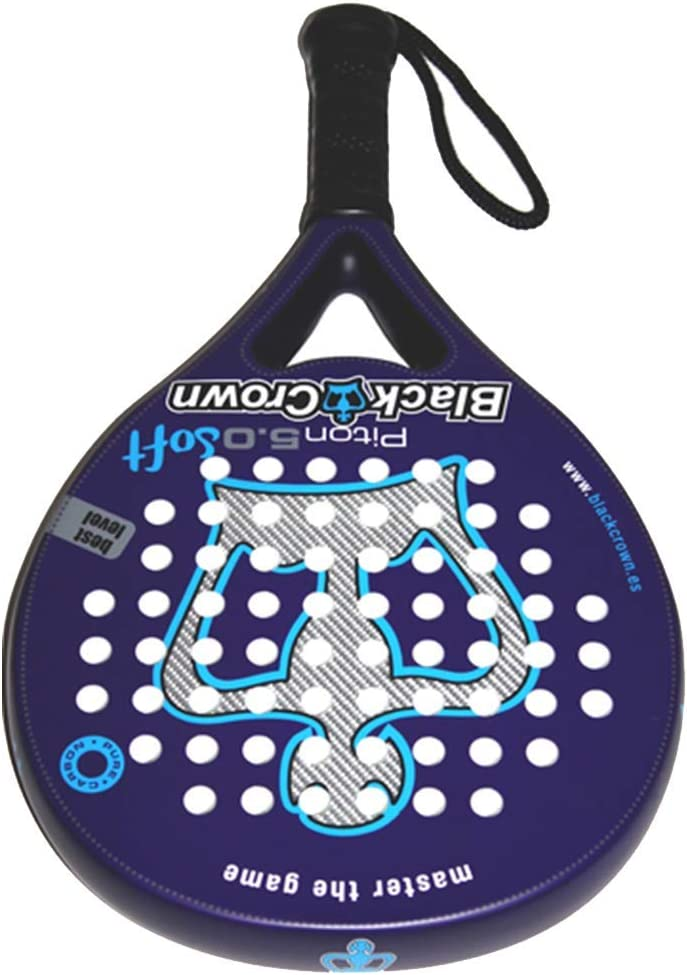 Amazon.com : Black Crown | Piton 5.0 Soft Padel Racket ...