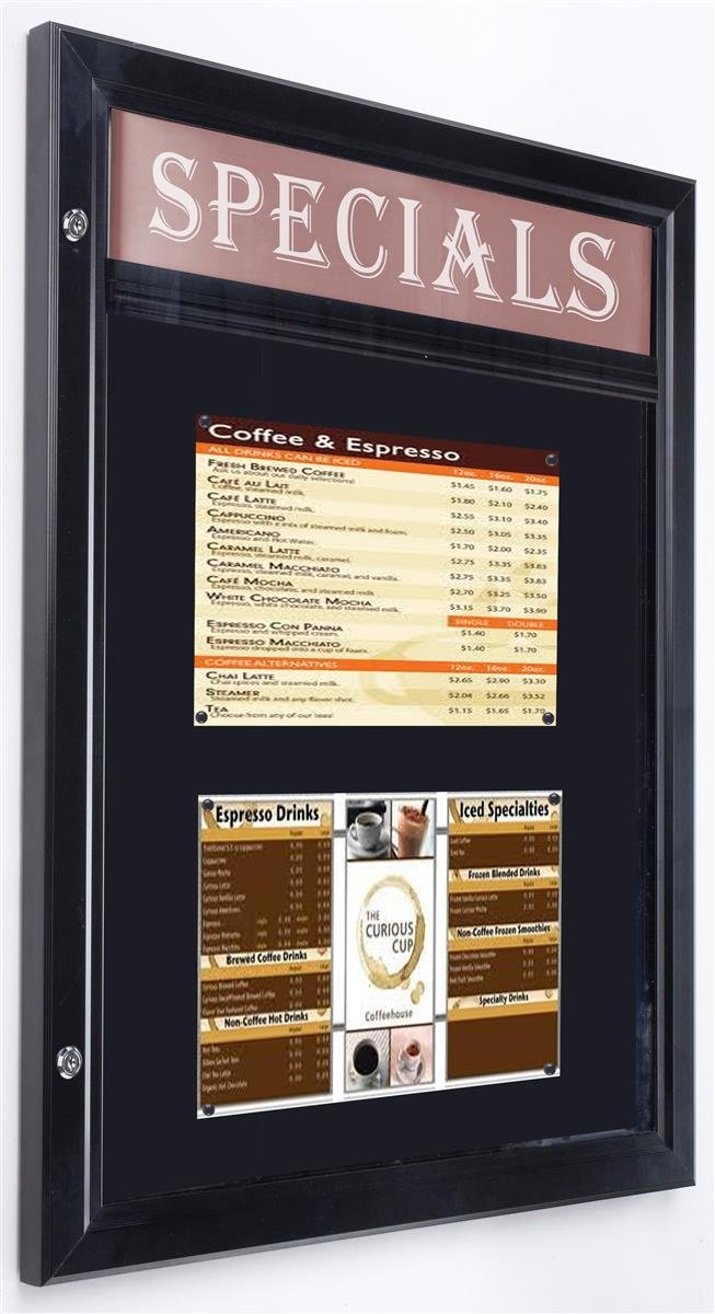 Displays2go Outdoor Bulletin Board, Magnetic Surface, 24 x 31 Inches, Wall Mount (ODM851431HS)