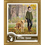 Craig Frames 314GD1114D 0.75-Inch Wide Picture/Poster Frame in Ornate Finish, 11 by 14-Inch, Ornate Gold