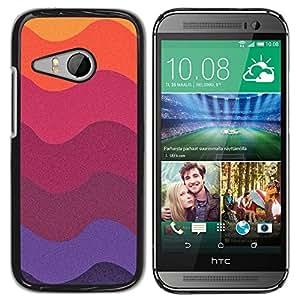 Ondas colores en colores pastel Arte Papel púrpura del ciruelo - Metal de aluminio y de plástico duro Caja del teléfono - Negro - HTC ONE MINI 2 / M8 MINI