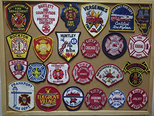 ILLINOIS FIRE/RESCUE DEPARTMENT PATCHES! SET ONE!LOT OF 24!