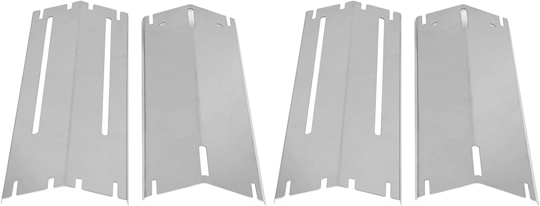 Plateado Universal para Parrilla de Gas para Barbacoa Longitud retr/áctil Cubierta Protectora de Quemador Resistente al Calor Placa de Calor Duradera