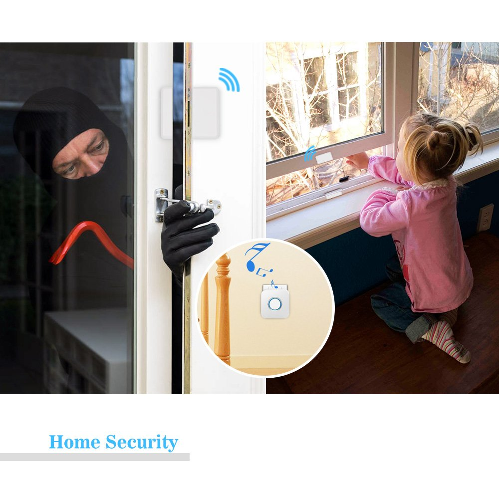 Wireless Door Sensor Alarm Chime, BITIWEND Home Security Window Entry Alert With Operating Range 600 feet/52 Chimes For Home/Garage/Shop (1 Door Sensor & 1 Receiver) by BITIWEND (Image #4)