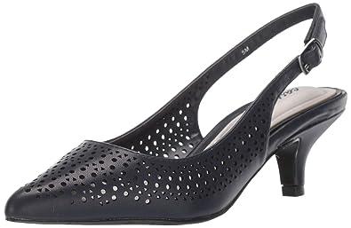 b69f729fdc5 Easy Street Women s Enchant Slingback Dress Pump on Kitten Heel Shoe