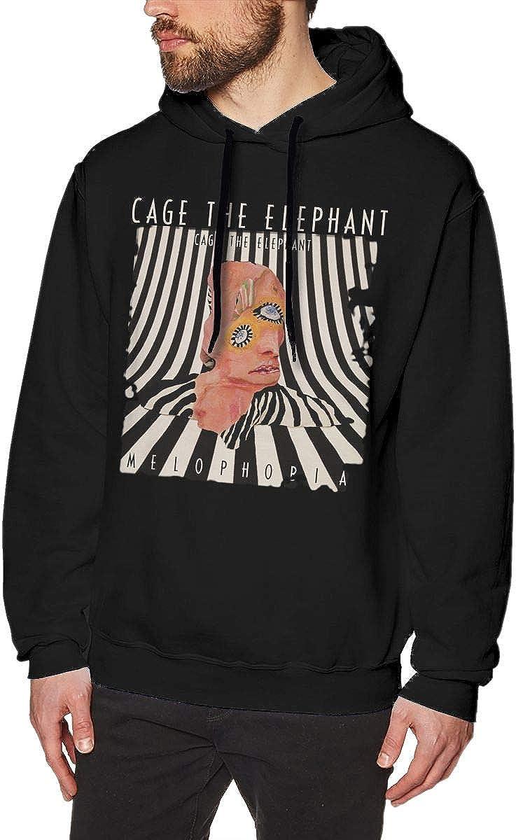 LilianR Cage The Elephant Melophobia Mens Hoodies Hoodie Black