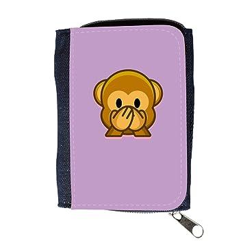 Cartera para hombre // Q05190617 Emoji mono 3 Ube brillante // Purse Wallet: Amazon.es: Electrónica