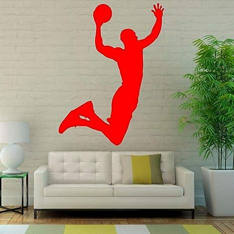 Ajcwhml Pegatinas de Pared Baloncesto Arte Vinilo decoración de la ...
