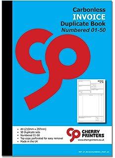 Adams Invoice Book Part Carbonless X Inches - Adams invoice dc5840