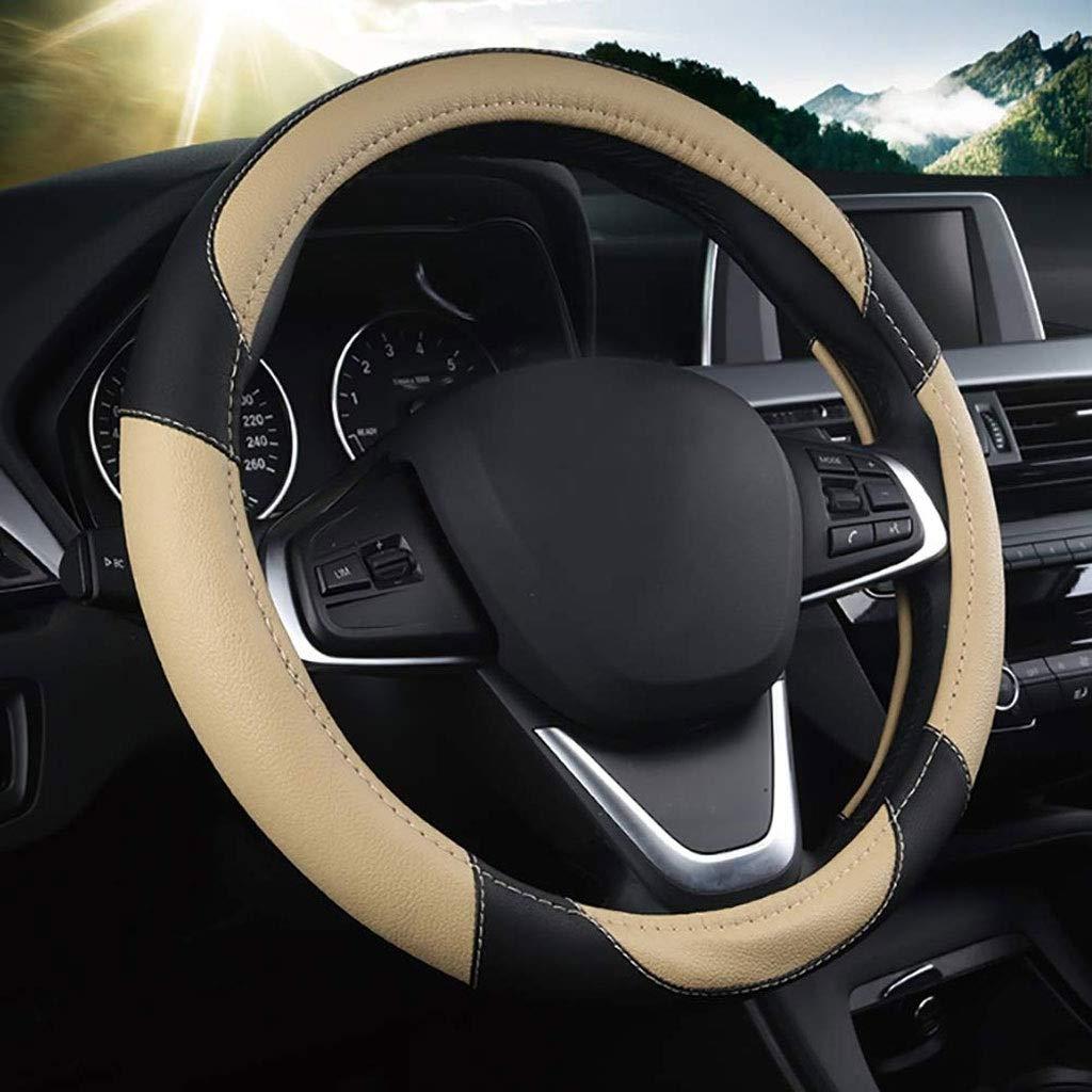 Size : 47cm ZXHteering Wheel Cover WH Cubierta del Volante del autom/óvil Four Seasons Di/ámetro Universal del cami/ón 40-50 CM Funda de Cuero Antideslizante Resistente al Desgaste