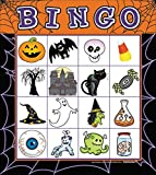 Toys : Halloween Bingo Card Party Game - For 16 Players, Ages 4 & Up