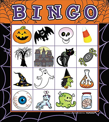 Price comparison product image Halloween Bingo Card Party Game - For 16 Players, Ages 4 & Up