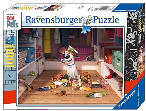 (Ravensburger The Secret Life of Pets Puzzle 1000 Piece Jigsaw Puzzle for Adults - Every Piece is Unique, Softclick Technology Means Pieces Fit Together Perfectly)