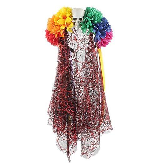 Diadema de flores artificiales multicolor hecha a mano para ...