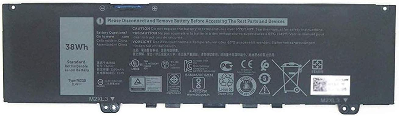 BOWEIRUI F62G0 (11.4V 38Wh 3166mAh) Laptop Battery Replacement for Dell Inspiron 13 5370 7370 7373 7380 7386 Vostro 13-5370-D1505G Series RPJC3 39DY5 F62GO