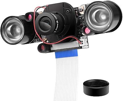 UNIROI Camara para Raspberry Pi, IR-Cut 1080p 5MP Webcam de Vision ...