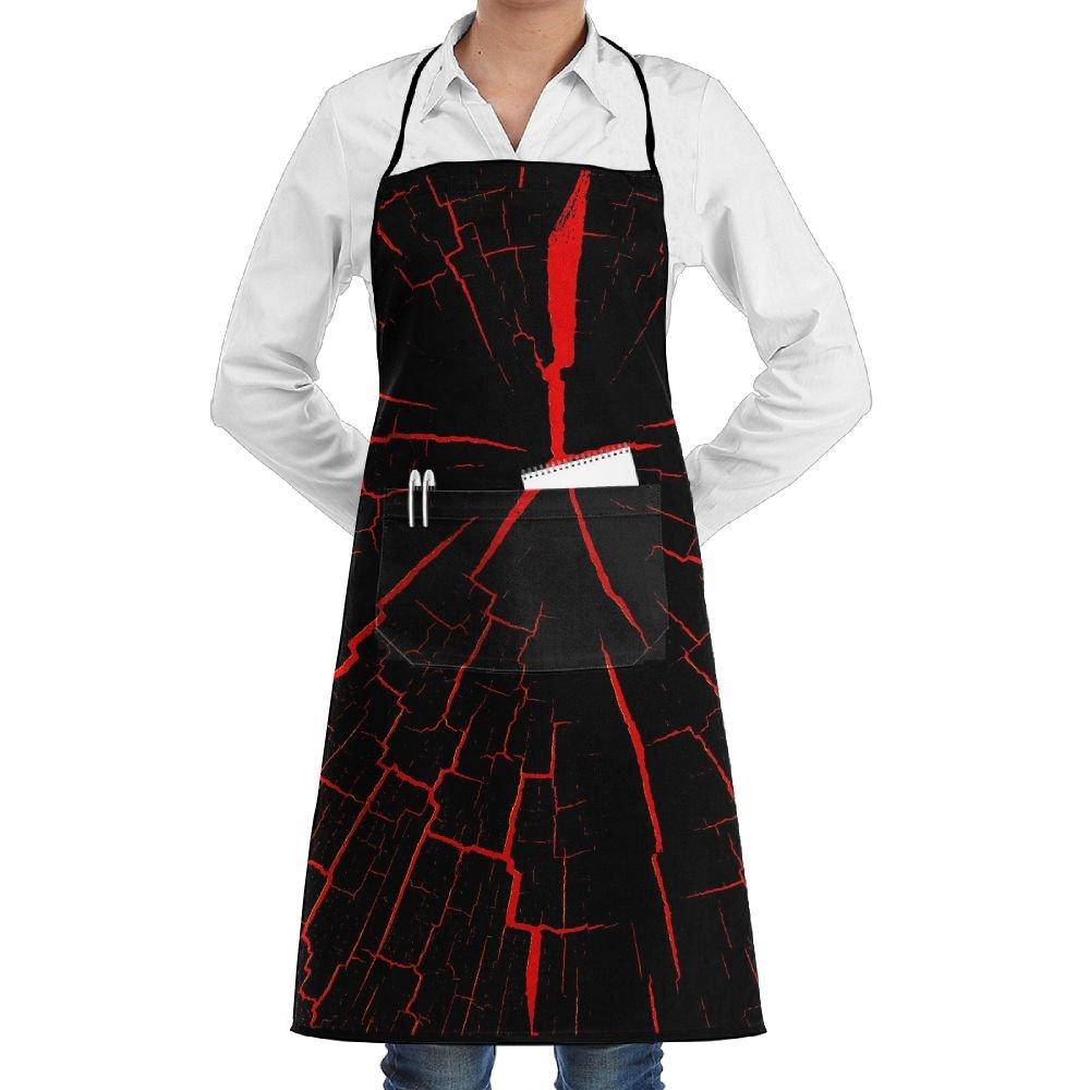 Lao Yang Mai Red&Black Cracks BBQ Waiter Housekeeper Pet Grooming Bartender Kitchen Beautician Hairstylist Nail Salon Carpenter Shoeing Wood Painting Artist Pocket Apron