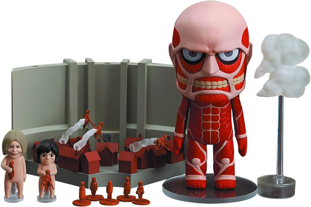 Amazon Com Good Smile Attack On Titan Colossal Titan Nendoroid And Playset Action Figure Busts Toys Games