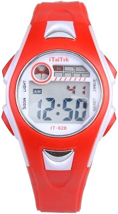 bbb8ab4c63be Reloj de pulsera de nino - iTaiTek Reloj de pulsera digital para Natacion  Deportes de chica