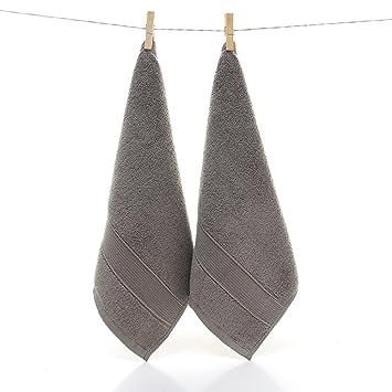 Lote de 10 piezas Toallas de cara algodón gruesa essuie mano absorbentes 35 x 35 cm pequeña toalla, 100% algodón, gris, 35_x_35_cm: Amazon.es: Hogar