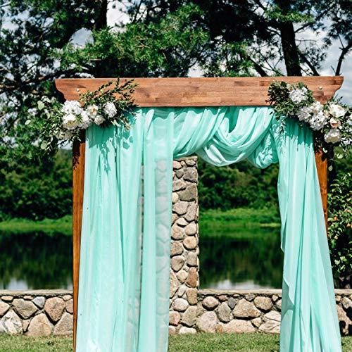 Mint Green Wedding Decorations - BIT.FLY 394 x 53 inch Sheer