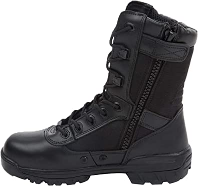 Thowi Mens Military Tactical Boots Army Jungle Boots with Zipper