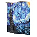 """Carnation Home Fashions """"The Starry Night"""" Fabric Shower Curtain"""