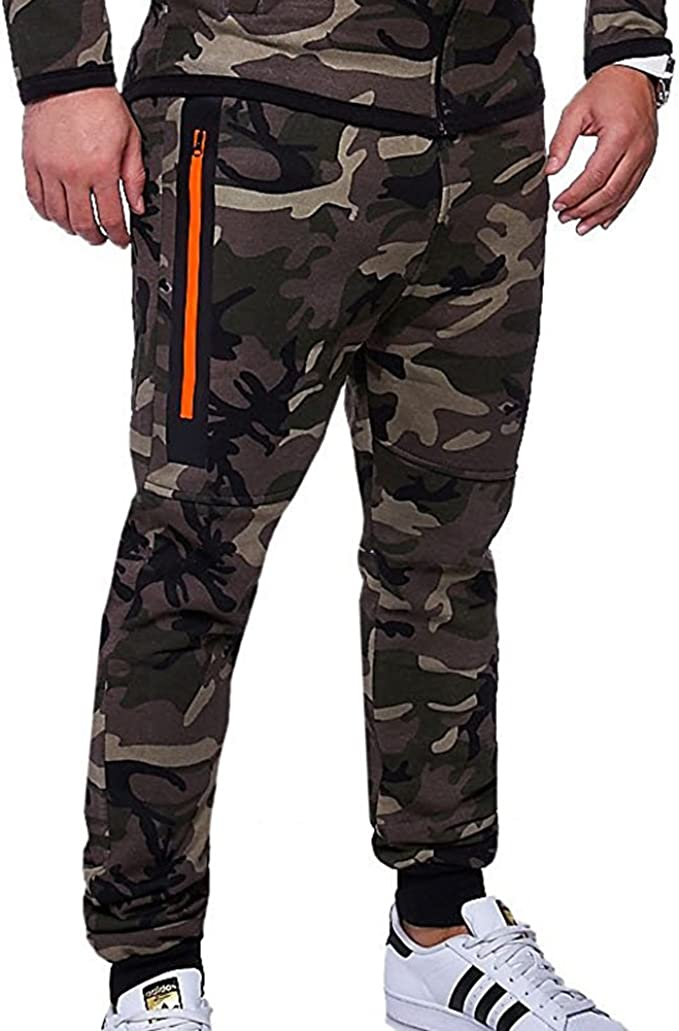 Yying Pantalones Hombre Chándal Camuflaje Pantalones de Deporte ...