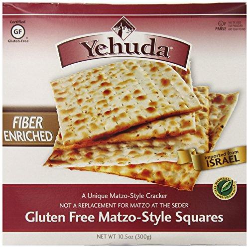 Yehuda Gluten Free High Fiber Matzo Style Squares, 10.5 Ounce