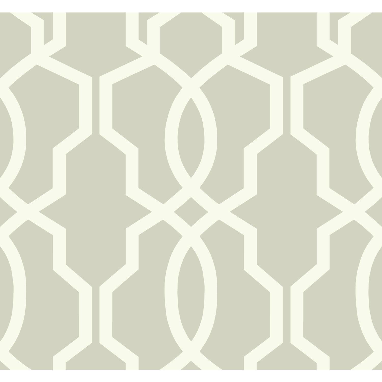 York Wallcoverings GE3668 Ashford Geometrics Hourglass Trellis Wallpaper Dark Blue//White
