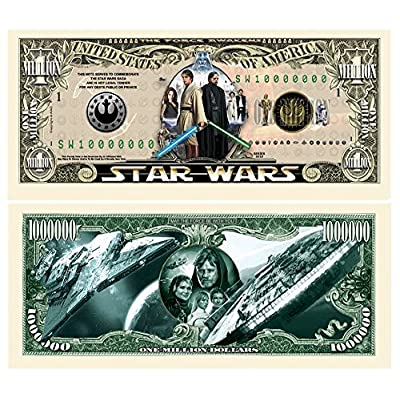 Set of 50 - Limited Edition Star Wars Collectible Million Dollar Bill: Toys & Games