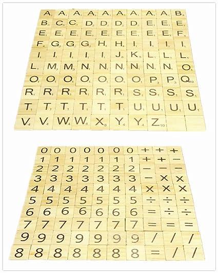 Amazon com: Hewnda 500 Wooden Letter Tiles, Wooden Spelling