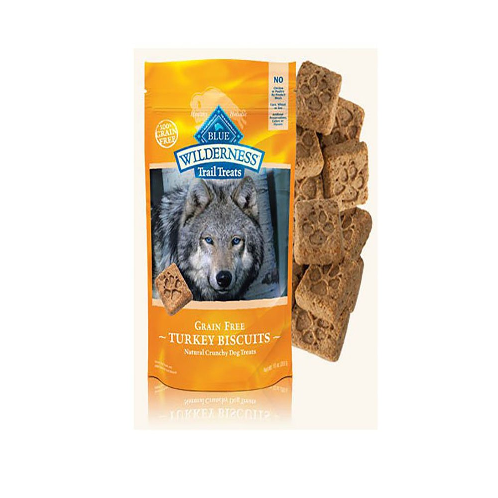 Blue Buffalo Wilderness Dog Trail Treat Biscuits Variety Pack – Grain Free – 3 Flavors Duck, Turkey, Salmon – 10 oz 3 Total Bags