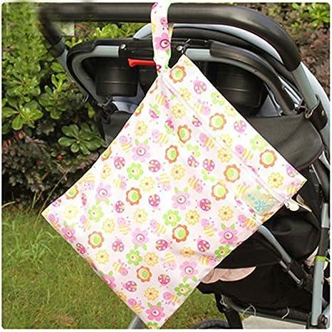 Baby Waterproof Zipper Bag Washable Reusable Baby Cloth Diaper Bag by BByu