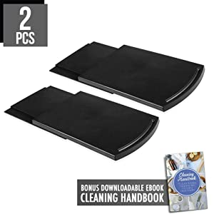 "2pcs Coffee Maker Trays, 12"" Handy Caddy Sliding Tray with Smooth Base Wheels for Countertop Storage Drawer Shelf Under Cabinet, Hold Up to 25lbs for Coffee Maker Blender Toaster Kitchen Appliances"