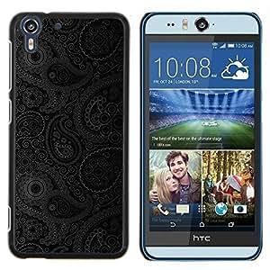 Stuss Case / Funda Carcasa protectora - Diseño floral gris Wallpaper - HTC Desire Eye M910x