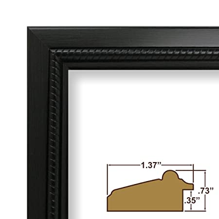 16x23 Picture / Poster Frame, Smooth Wood Grain Finish, 1.375\