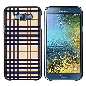 For Samsung Galaxy E7 E700 Case , Textura del paño- Diseño Patrón Teléfono Caso Cubierta Case Bumper Duro Protección Case Cover Funda