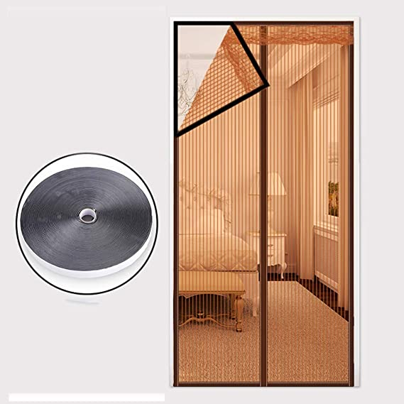 ZFHTAO Magnetic Fly Screen Door Full Frame Velcro Powerful Magnets Living Room Curtain for Balcony 31x83inch