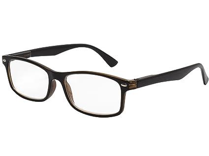 cc26e83d00 TBOC Gafas de Lectura Presbicia Vista Cansada - Graduadas +1.50 Dioptrías  Montura de Pasta Bicolor Negra ...