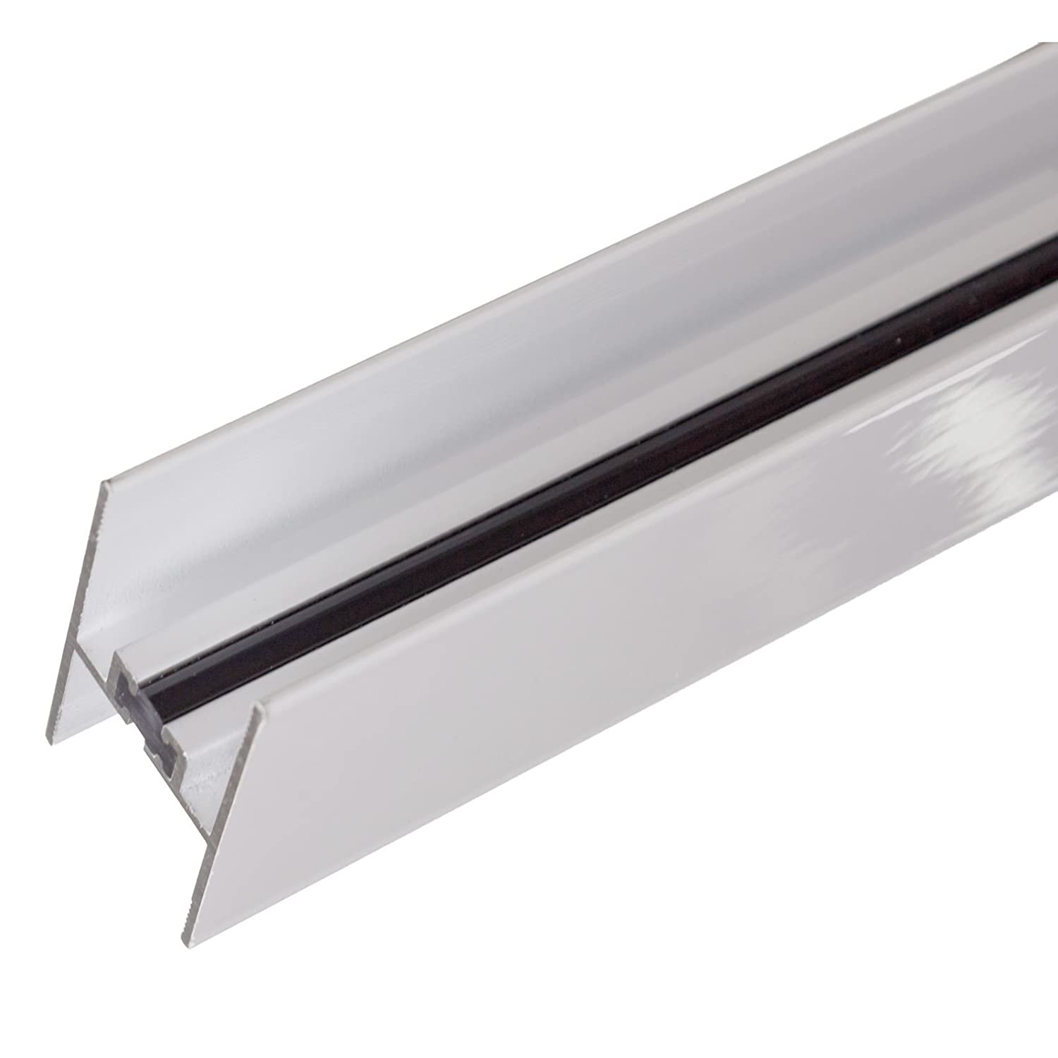 White 24/25mm Aluminium Muntin Bar Glass Unit Polycarbonate Joint Strip Thermally Broken Glazing Connector 2.1M Conservatory Roof Truly PVC Supplies